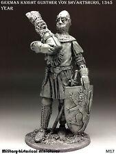 German knight Gunther von Shvartsburg, Tin toy soldier 54mm, figurine, sculpture