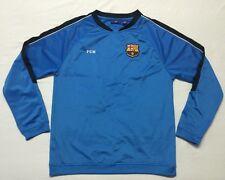 Fcb F.C. Barcelona Blue Long Sleeve Pullover Soccer Shirt Men's size Large