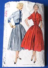 Shirtwaist Dress Pattern Simplicity 4038 Full Swing Skirt 1952 Vintage