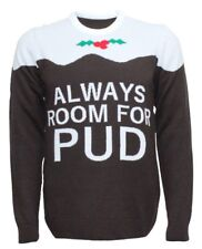 Always Room For Pud Christmas Jumper, Festive Knitwear FREE DELIVERY