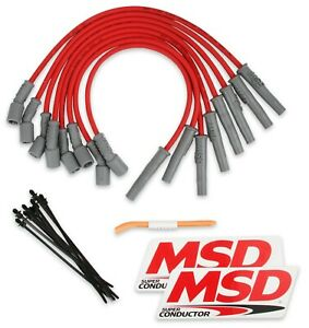 MSD 31639 8.5mm Red Ignition Spark Plug Wires 2010-2014 Ford F-150 Raptor 6.2L