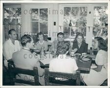 Guests Around Table North Verde Dude Ranch Victorville CA Press Photo