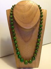 Vintage Chinese cloudy green Bakelite Bead 82.6 gram necklace 67 cm (m1218)