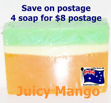 HANDMADE NATURAL TRANSPARENT SOAP Juicy Mango 100GRAMS ~ 4 for $8 Postage
