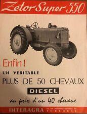 Brochure Tracteur Zetor Super 550