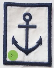 Insigne tissu ANCRE MARINE NATIONALE UNIFORME CHEMISETTE COLONIALE 74x96 mm