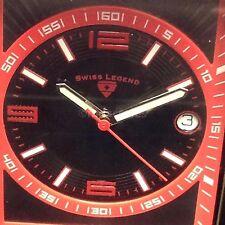 NEW IN BOX! GENUINE SWISS LEGEND LIMOUSINE WATCH, RED SL-40012-01-RDA