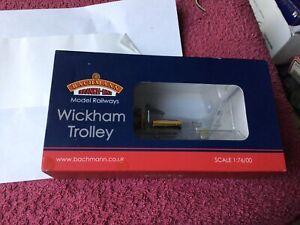 Bachmann OO Gauge 32-992 Wickham Trolley  BR Engineers Yellow Livery Nrmint Boxd