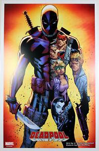 DEADPOOL vs. X-FORCE ART PRINT by J. Scott Campbell ~ Marvel Comics