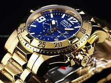 New $1,595 Invicta Reserve Swiss Made Chrono 18K Gold High Polish Blue MOP Watch