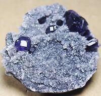 beautiful!!!Translucent Gem Level Purple Fluorite Crystal Mineral Specimen/China