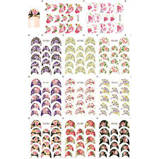 Nagel Kunst Sticker French Edge Tip Water Decal Blumen Motiv DIY Tipps B056-066