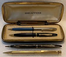Lot of 4 Vintage SHEAFFER'S Mechanical Pencils & Case Models 250, 300,White Dot+