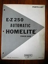 Homelite EZ 250 Automatic Chain Saw Parts list