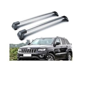 2011-2019 Jeep Grand Cherokee Removable Roof Rack Cross Rails Bars Silver