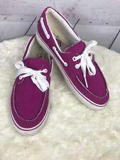 VANS OFF THE WALL Purple Canvas Deck Boat Shoes Mens Sz 7 Womans Sz 8.5
