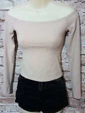 Atmosphere Long Sleeves  Cropped Top, off shoulders,  size 6