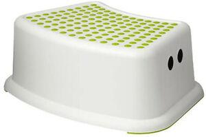 Forsiktig Children's Stool, Green/White, 1-Pack
