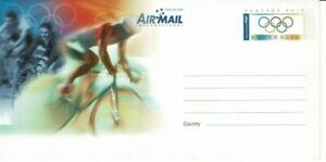 Stamp Australia 2000 Sydney Olympic Games aerogramme showing Cycling competition