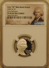 2020-W NGC PF-69-UCAM Jefferson nickel Early Releases deep cameo West Point