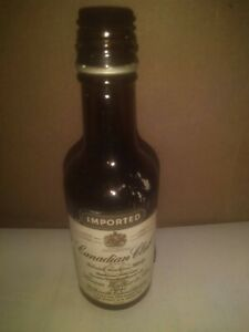 Canadian Club Blended Canadian Whisky 1/10 Pint glass Miniature Bottle empty