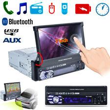 "7"" 1 DIN HD Touch Screen Car Auto Bluetooth AM/FM Radio USB/TF/AUX MP5 Player"