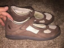 Women's Drew DELITE Mary Jane Shoes Brown Barefoot Freedom Size 11 W Wide