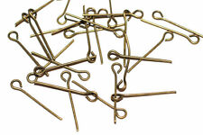 100pcs Antique Bronze Eye Pins 20mm lgth 7mm gauge 1-3 day Ship