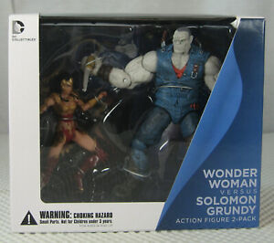 Wonder Woman vs Solomon Grundy Figure Set Injustice Gods Among Us NEW SEALED