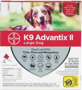 ADVANTIX 4-DOSE FOR DOGS 21-55 LB*FREE SHIP*USA/EPA APPROVED*100% AUTHENTIC