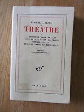 Théâtre 1 Chaises, Cantatrice Chauve, Amédée Eugène IONESCO 1965