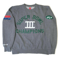 Mitchell & Ness New York Jets NFL Superbowl III Crewneck Sweatshirt Mens Medium
