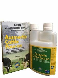 Ausmectin Cattle Drench Pour-On 250mL (Equiv Ivomec)