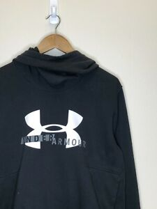 15/2 Womens Under Armour Shawlneck Hoodie Sweater Size LG Black White
