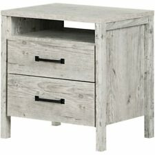 South Shore Gravity 2 Drawer Nightstand in Seaside Pine