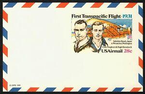 #UXC19 28c 1st Transpacific Flight, Mint ANY 5=