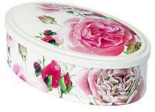 """Konfekt-Dose*oval*Metall""""Bauern-Rose*18x11cm*Rosen*Duftrosen*Vintage*Landhaus"""