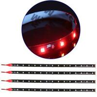 "4 PCS 12V 12"" 1FT 15SMD Flexible LED Strip Light Waterproof For Car Truck Boat^"