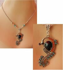 Peacock Necklace Silver Pendant Jewelry Handmade NEW Fashion Accessories Chain