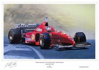 Michael Schumacher Ferrari F310 Ltd Ed Signed Art Print