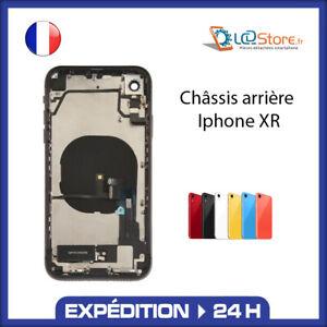 Châssis complet arrière Iphone XR Noir Blanc Rouge Orange Bleu avec nappe