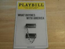 Playbill Program What Rhymes with America 2012 Atlantic Theatre Co NYC