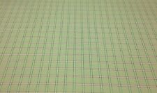 "AVARI SAGE PLAID GREEN TAFFETA WOVEN FAUX SILK DRAPERY FABRIC BY THE YARD 54""W"
