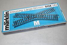 Märklin 5114 Kreuzung 193mm Spur H0 OVP