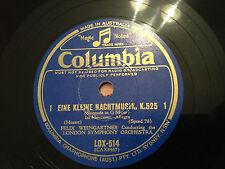 """FELIX WEINGARTNER """"Ein Kleine Nachtmusik"""" Serenade In G Major (Mozart) 78rpm NM+"""