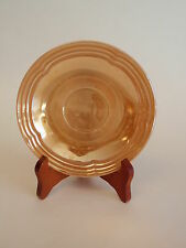 Vintage Anchor Hocking Fire King Peach Luster Saucer Plate Three Bands Pattern