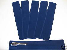 LOT OF 6  ROYAL BLUE VELVET PEN POUCH/SLEEVE HOLDER