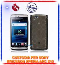 Custodia TPU CERCHI FUME' per Sony ericsson Xperia X12 ARC