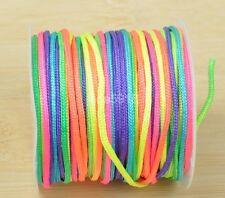1.5mm Nylon Cord Shamballa Beading Bracelet Macrame Rattail String Thread