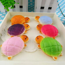 1pc Bread Shaped Tortoise Squishy Squeeze Toy Phone Charms Soft PU Turtle Toys